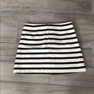 MINKPINK black & white stripped leather miniskirt